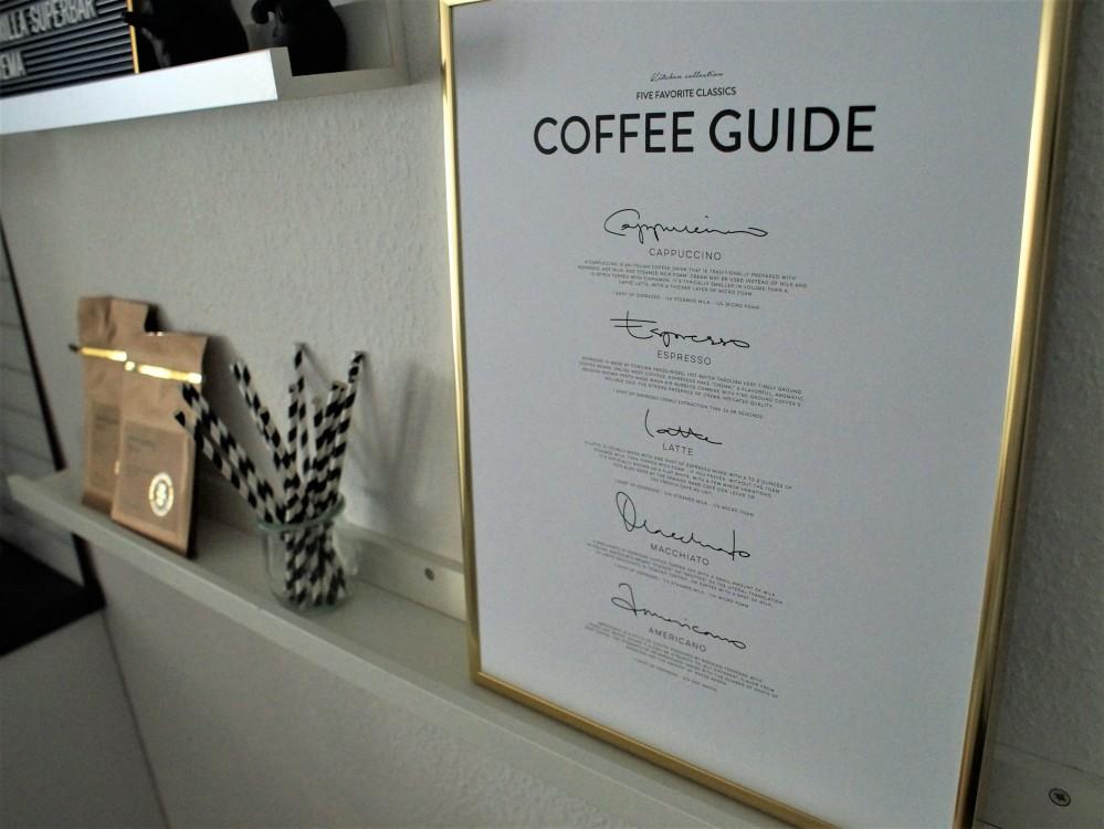 Coffee corner - Coffee Guide Print by Desenio
