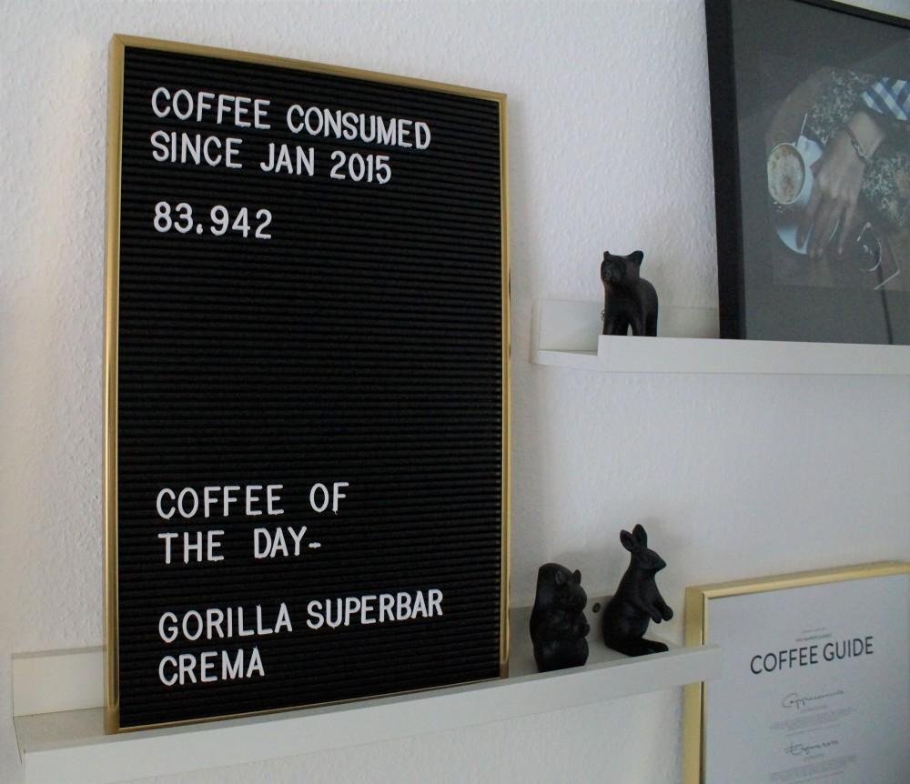 Coffee corner - Letter board